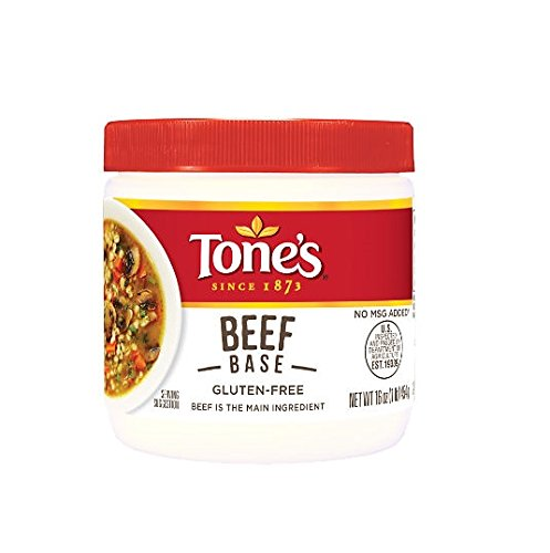 Tone's Chicken Base and Beef Base Variety Bundle, 2 Pack, 16 Ounce Paste ()