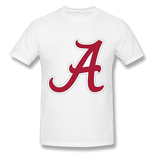 Men's Alabama Crimson Tide Football Logo Tshirts Casual Size XS White