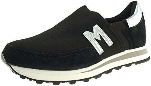 Shoes Maxstar Trainers Black Slip Spandex Ons JOL Sneakers rrU1wY