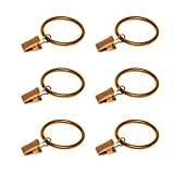 Coideal Gold Curtain Ring Clips Eyelets, 30 Pack Rustproof Metal Drapery Ring Hook/Hanger Clips Holding Heavy Curtains Rod Set Drapes (1.5 inch)