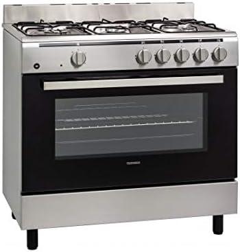 Piano de cuisson Telefunken TFKCG9060I - Cuisinière 60 cm Inox - Table de cuisson Gaz - Four Electrique 107 litres - Nettoyage Catalyse