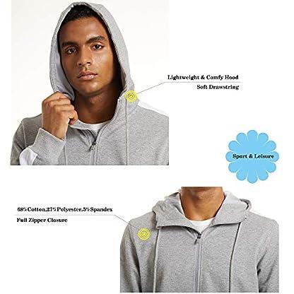 TACVASEN Men's Hoodie Fleece Hooded Sweatshirt Full Zip Sport Casual Jacket Hoody 2