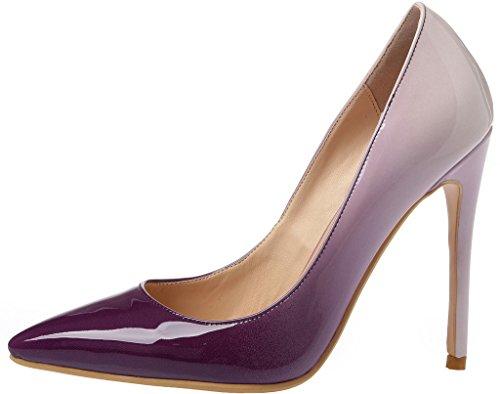 Calaier Donna 15 Colori Us Taglia 4-15 Stiletto 12cm Tacco Alto Abito Da Sposa Festa Ufficio Pompe Multicolore B