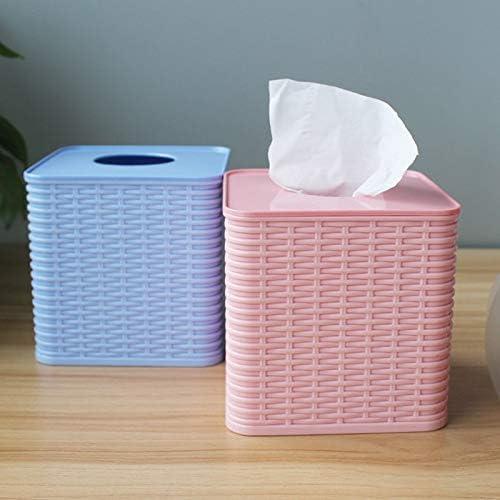 AFQHJ Haushalts Tissue Box Einfache Einfarbig Tray Nette Papierrollenhalter Kreative Handtuchhalter Blau, Grün, Rosa Tissue Box Cover Gesicht (Color : Green)