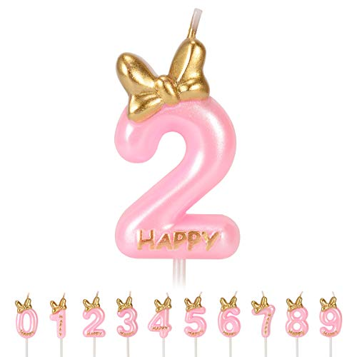 FYYZY Birthday Candles Numbers for Kids Cake Topper Numeral Candle Party Wedding Anniversary Decorations -