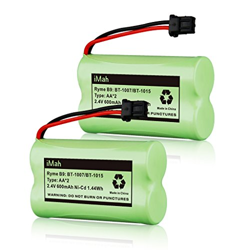 iMah Ryme B9 Cordless Phone Battery for Uniden BT-1007 BT-1015 BT-904 BBTY0460001 BBTY0510001 BBTY0624001 BBTY0700001 DCX150 DECT1500 D1484 Panasonic HHR-P506 HHR-P506A Home Handset Telephone