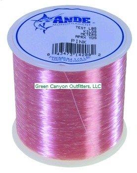 Ande A14-100P Premium Monofilament, 1/4-Pound Spool, 100-Pound Test, Pink Finish