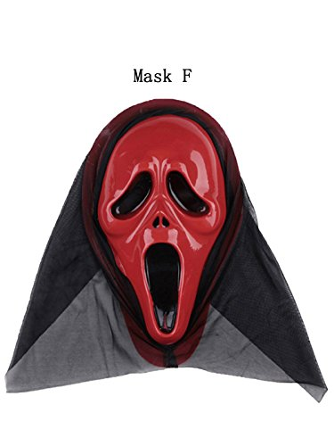 Period Costume Hire (Century Star Unisex Adult Skull Skeleton Halloween Cosplay Dress Face Mask Full Costume Mask F One Size)