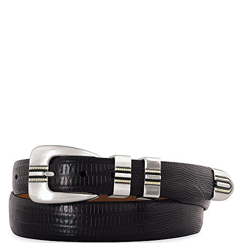 Johnston & Murphy Men's Lizard Grain Ranger Belt,Black,Size 36