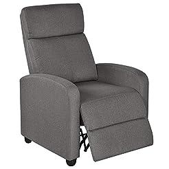 Yaheetech Fabric Recliner Sofa Modern Si...
