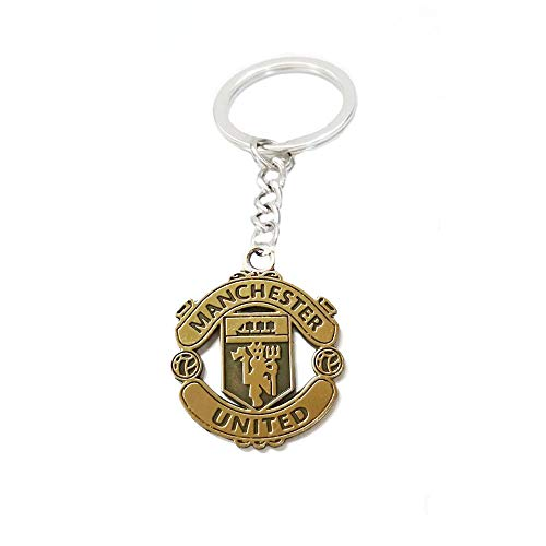 ZQfans Real Madrid,FC Barcelona Keychain Football Club Team Metal Keychain Gift for Football Fans (Manchester United)