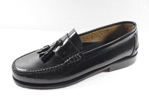 Komo2Flex - Mocasines piel vestir hombre con adorno borlas-antifaz, talla 46, color negro: Amazon.es: Zapatos y complementos