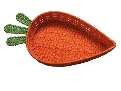 Woven Spring Carrot Shaped Serving Basket