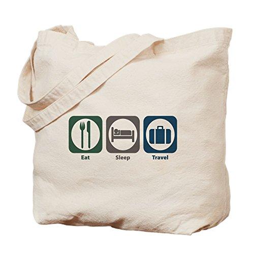 CafePress–Eat Sleep Reisen–Leinwand Natur Tasche, Reinigungstuch Einkaufstasche