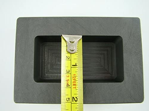 20 oz Gold 10 oz Silver High Density Graphite Mold Bar Loaf Scrap Copper