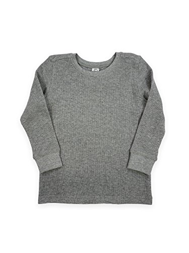 Colored Organics Boys Breck Thermal Pullover - Heather Grey - 4T
