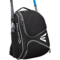 EASTON E210BP Bat & Equipment Backpack Bag | Baseball Softball | 2019 | 2 Bat Sleeves | Smart Gear Storage Shelf | Vented Shoe Pocket | Valuables Pocket | Rubberized Zipper Pulls | Fence Hook