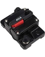 Circuit Breaker, Resettable Circuit Breaker, 12V 30A/40A/60A Auto Stereo Audio Resettable Inline Circuit Breaker Zelfherstelzekering voor auto Marine Trolling Motors Boot