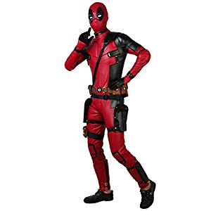 CospalyDiy Men's Suit for Deadpool 2 Costume Wade Wilson Cosplay Costume with Gloves