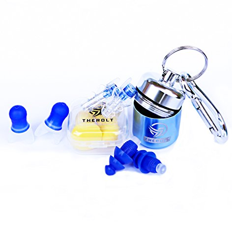 Professional Noise Cancelling Ear Plugs New for 2018 Cancel Out Loud Music- Best Choice for Musicians Earplugs. High Fidelity Ear Plugs for Travel, Sleeping, Swimming and Isolate Industrial Sounds
