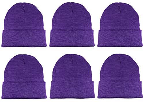 (Gelante Unisex Knitted Winter Beanie Hat 6 Pcs)