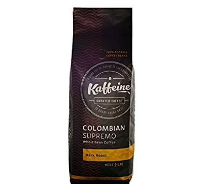 Kaffeine Koffee Premium Organic Roasted Whole Bean Specialty Gourmet Coffee