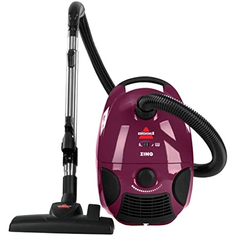Bissell Zing Bagged Canister Vacuum Maroon 4122 Corded