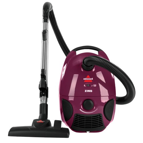 Amazon.com: Bissell Zing Bagged Canister Vacuum, Maroon, 4122   Corded:  Home U0026 Kitchen