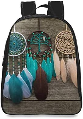 Dreamcatcher With Feathers Threads And Beads Rope Fashion School Bag Bookbags For Women Ladies Bags For College Print Zipper Students Unisex Adult Teens Gift