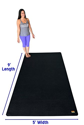 Pogamat Large Yoga Mat And Stretching Mat - 9ft X 5ft x 7mm Thick (108