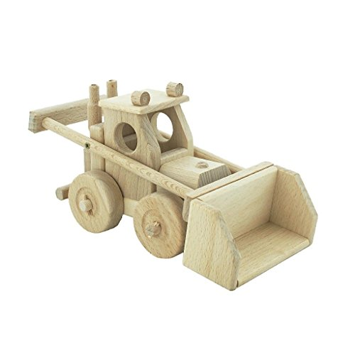 Wooden Bulldozer - Pretend Play Construction BuildingToy (Handmade in Europe) Montessori Toy - (Jane Toy)