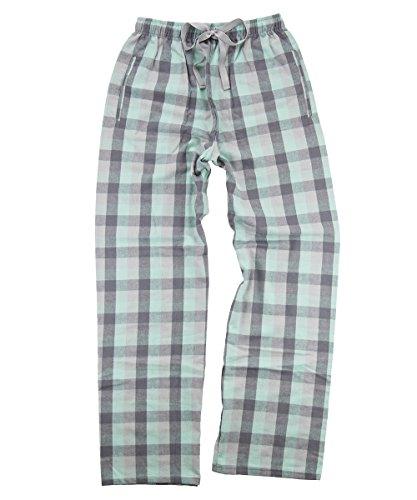 boxercraft Flannel Pant Mint/Grey