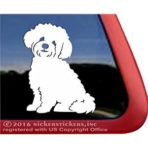 NickerStickers Teddy Bear Dog | Zuchon Shishon Bichon Shih Tzu Mixed Breed Vinyl Dog Window Decal 27