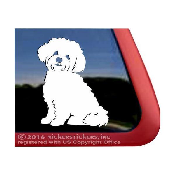 NickerStickers Teddy Bear Dog   Zuchon Shishon Bichon Shih Tzu Mixed Breed Vinyl Dog Window Decal 1