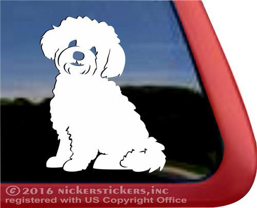 NickerStickers Teddy Bear Dog | Zuchon Shishon Bichon Shih Tzu Mixed Breed Vinyl Dog Window Decal