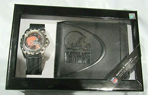 Cleveland Browns Men's Watch and Wallet Gift Set