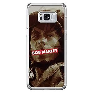 Samsung S8 Transparent Edge Case Bob Marley -Multicolor