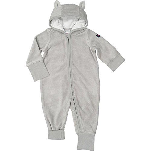 Polarn O. Pyret Kitty Paw Velour Eco Romper (Newborn)