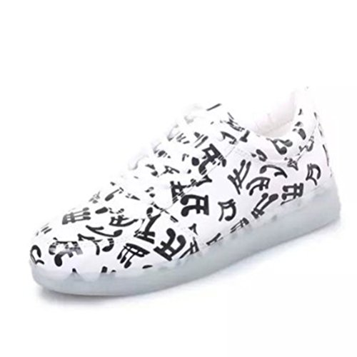 [Present:kleines Handtuch]JUNGLEST® [ Led Schuhe ] 7 Farbe USB Aufladen LED Leuchtend Sport Schuhe Sneaker für Unisex-Erwachsene H initial