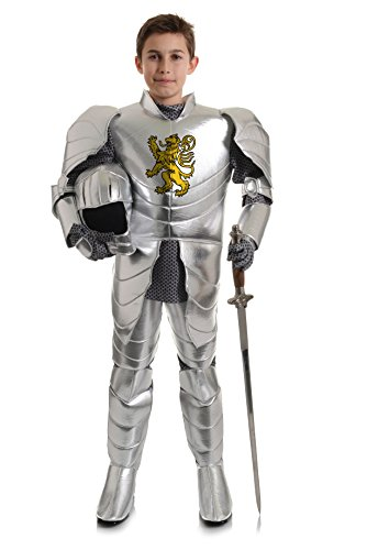 Underwraps Big Boy's Boy's Shining Knight Costume, Small Childrens Costume, Silver, Small -