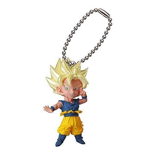Goku Keychain - Dragon Ball Kai Figure Swing Keychain~UDM The Burst 13~S.s Goku by Bandai
