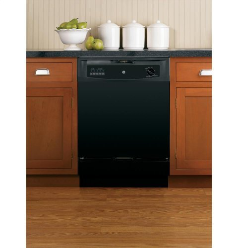 GE GSD3300KBB Built-In 24-Inch Dishwasher, Black, 5 Cycle...