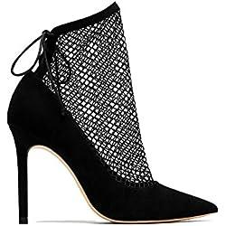 Zara Women High heel shoes with mesh 6232/201 (39 EU | 8 US | 6 UK)