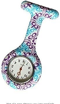 King.MI Pin de Solapa de Enfermera de Color de impresión de Silicona Reloj Clip Colgante Regalo del Reloj de Bolsillo médico Reloj Hombres Mujeres