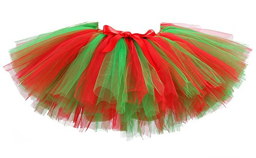 Tutu Dreams Christmas Elf Tutu Skirts for Women (Free Size, Christmas) ...