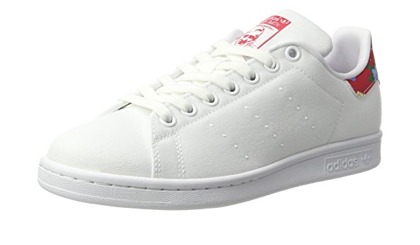 Stan Smith W HK, WHITE/FLORAL/RED