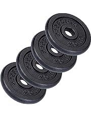 ScSPORTS Halterschijvenset 10 kg, 4 x 2,5 kg halterschijven, gietijzer, 30 mm, gewichten, Voor effectieve fitness- en krachttraining in je homegym, Gewichten, Gewichtsschijven