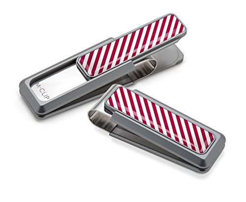 M-Clip Ultralight Slide V2 Anodized Money Clip (One Size, Natural/Red)