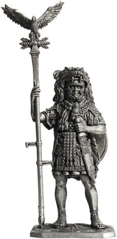 (Aquilifer of Roman Legion Tin Toy Soldiers Metal Sculpture Miniature Figure Collection 54mm (Scale 1/32))