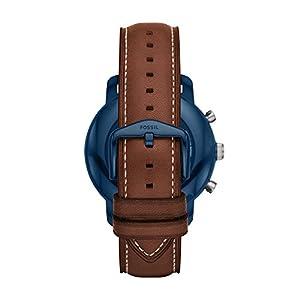 Fossil Q Men's 'Gen 3 Explorist' Quartz Stainless Steel and Leather Smart Watch, Color:Brown (Model: FTW4004)